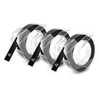 DYMO Black Plastic 3-Count Embosser Label Maker Pressure Sensitive Refill Tape