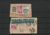 Canada Stamps and Cancels on Piece  ref 22158