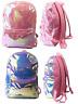 Silver or Pink Holographic Girls Back Pack Shiny Iridescent School Rucksack Bag