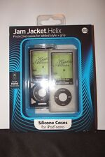 JAM JACKET HELIX , SILICONE CASES FOR { iPOD NANO } PACK OF 2