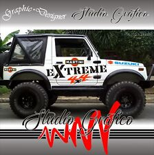 KIT 10 ADESIVI DECAL STICKERS FUORISTRADA SUZUKI SAMURAI OFF ROAD 4X4