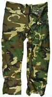 Genuine US Army Wet Weather Woodland Rain Pants Over Trousers Improved Rainsuit