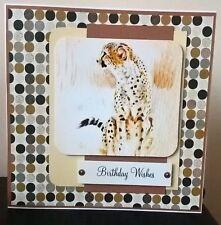Stunning handmade 6x6 Birthday Greetings Card Birthday Wishes