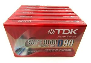 Lot of 6 TDK Superior D90 D-90S10TG Normal BIAS Sealed