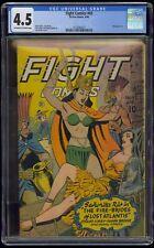 Fight Comics (1940) #43 CGC 4.5 Blue Label Off-White/White Pages Bondage Baker