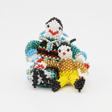 Native American Beadwork Zuni Beaded Storyteller by Todd Poncho