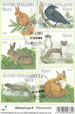 2004 FOREST ANIMALS #1214  USED SOUVENIR SHEET