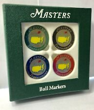 MASTERS Golf Multi Color BALL MARKER 4 Pack Undated AUGUSTA NATIONAL