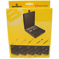 BERGEON 7899-A10 WATCHMAKERS ERGONOMIC 10 PIECE SCREWDRIVER SET - HS7899-A10