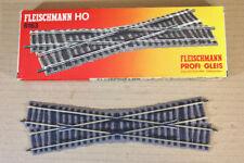 FLEISCHMANN 6163 PROFI GLEIS RIGHT CROSSING TRACK MINT BOXED nn