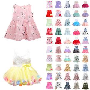 Kind Mädchen Prinzessinenkleid Tutu Kleider Freizwit Partykleider Sommer Neu