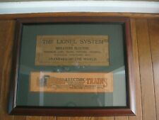 """VINTAGE  LIONEL LINES wood Framed art picture 20""""x16"""""""