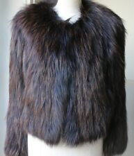 ISABEL MARANT BROWN FOX FUR JACKET FR 38 UK 10