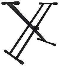 Rockville RKS-2X Double X Braced Keyboard Stand 110 LB Capacity w/Rubber Bumpers