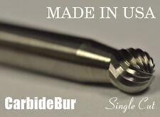 "BRAND NEW USA CARBIDE BURR SD-1 SINGLE CUT 1/4"" BALL SHAPE DEBURRING TOOL BIT"