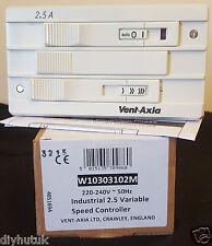 Ventilación Axia 2,5 a Industrial Velocidad Variable de controlador w10303102m