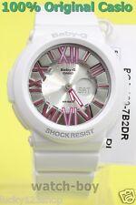 BGA-160-7B2 White Pink Casio Baby-G Ladies Watches Analog Digital Neon Brand-New