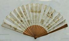 ANTIQUE VICTORIAN WOOD & PRINTED PAPER ADVERTISING FAN - TA SIMPSONS GOLDSMITH