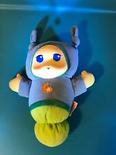 "Playskool Hasbro Lullaby Gloworm Glow Worm Music Toy 9"" Plush Blue Moon"
