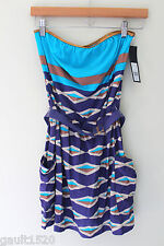 NWT Marc by Marc Jacobs Sexy Strapless Belted Swim Cover Up Violet Dress S $186