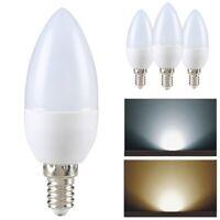 5 LED Leuchtmittel E14 Kerze Energiespar-Lampe Lampen 3W warmweiß Glüh-Bir ape