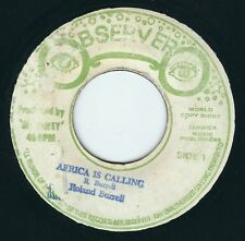 """Roland Burrell - Africa Is Calling / Dub - Observer 7"""" 45T Roots Reggae ♫"""