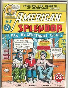 American Splendor 1 VF (8.0) 5/76 R. Crumb, Harvey Pekar! 1st print!