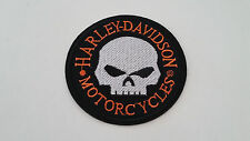 Harley Davidson 1 x Patch Aufnäher Motorcycles Skull 9 x 9 cm USA Biker