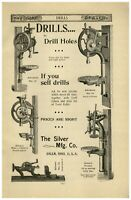 1896 PAPER AD Blacksmiths' Post Drills Silver Co Salem Ohio #12 #14 1 2 3