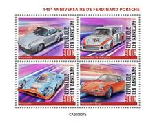 More details for central african rep cars stamps 2020 mnh ferdinand porsche 911 targa 959 4v m/s