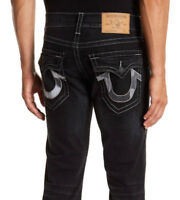 True Religion Men Jean 36 W x 34 Flaps Straight Stretch Authentic New with Tags