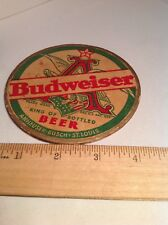 Beer COASTER    Anheuser-Busch BUDWEISER ~*~  Eagle Vintage Antique