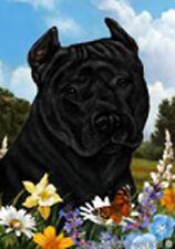 Summer House Flag - Black American Pit Bull Terrier 18407
