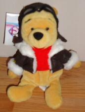 "Disney Pilot Winnie the Pooh 8"" beanbag plush w/Tag New! Nwt"