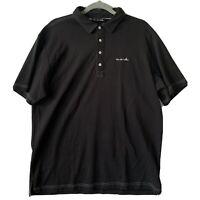 Travis Mathew Mens XL Golf Polo Shirt Short Sleeve Charcoal Black Soft Pima NICE