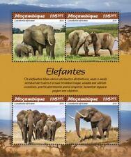 Mozambique - 2019 Elephants - 4 Stamp Sheet - MOZ190106a