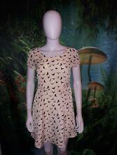 Depri Womens Off White Bird Toss Print Dress (D)