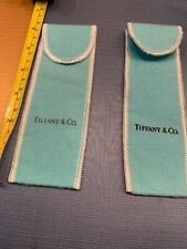 """2 Authentic Tiffany Flannel Covers  6"""" X 2"""" Brand New"""