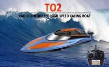 2.4G Racing jouet de bateau télécommandé pour piscines lacs + batterie 2pcs FR