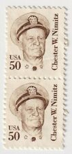 Pair 1980-1985 USA - Chester W. Nimitz - 50 Cent Stamps