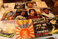 Lot de 10 magazines LE SPORT ET SON POSTER DU 25  AU 34 de 1971 ( sans poster)