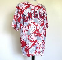 Anaheim Angels Los Angeles Baseball Jersey Hawaiian Theme Shirt Men XL X-LARGE