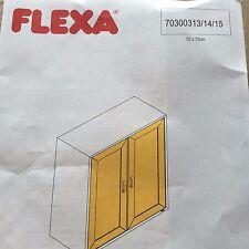 FLEXA CABINET DOORS - INTERCHANGEABLE INSERTS FLEXA WHITE  NIB  #70300314