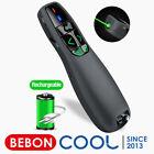 Rechargeable Wireless Presenter Green Laser Pointer Presentation Remote Control