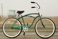 "26"" Men Beach Cruiser Bicycle Bike Firmstrong Urban Dark Green"