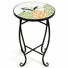 Pineapple Outdoor Indoor Accent Table Plant Stand Scheme Garden Steel