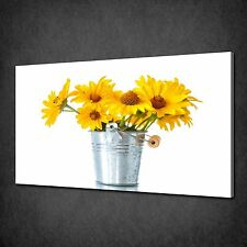 YELLOW DAISY FLOWERS CANVAS WALL ART PRINT PICTURE POSTER READY TO HANG