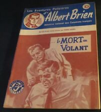 1940s ADVENTURES POLICIER ALBERT BRIEN DETECTIVE SEX MURDER FRENCH  PULP #523