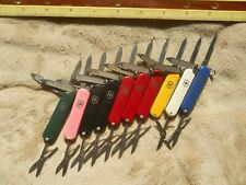 Lot of 10 Classic SD Victorinox Swiss Army knives in 7 colors - No Ads