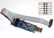 USBASP USBISP AVR programmeur ATMEGA8 ATMEGA128 ATMEGA168 3.3v - 5v Programmer